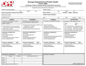 Georgia Department of Public Health Form 3300