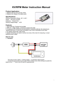 KV/RPM Meter Instruction Manual