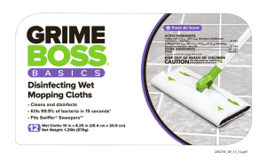 Disinfecting Wet Mopping Cloths