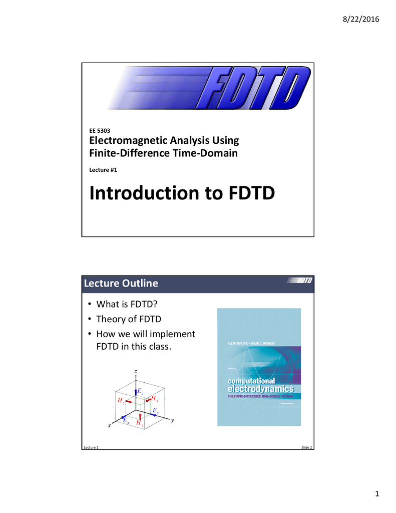 Introduction to FDTD