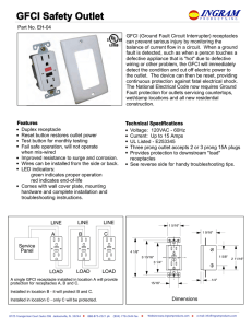 GFCI Safety Outlet - Ingramproducts.com