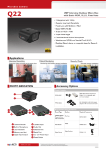 PHOTO INDICATION Accessory Options - Surveillance