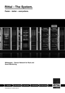 Whitepaper – Sensor Network for Rack and Room Monitoring