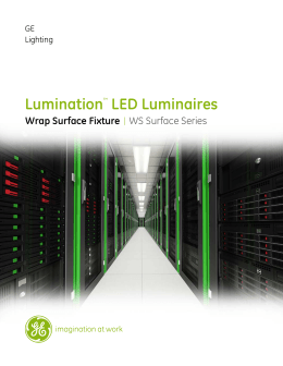 GE Lumination LED Fixtures WS Luminaire Datasheet | GE Lighting