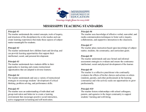 MS Teaching Standards