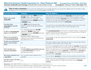 Elect Platinum 500 PPO - Memorial Hermann Health Solutions