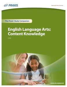 English Language Arts: Content Knowledge