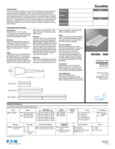 Spec Sheet - Cooper Industries