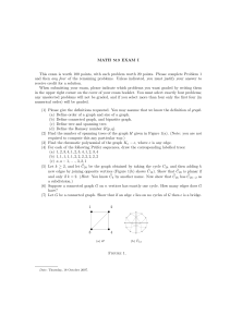 MATH 513 EXAM I This exam is worth 100 points, with each problem