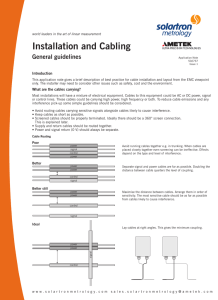 Installation and Cabling