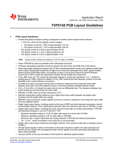 TVP5158 PCB Layout Guidelines (Rev. A
