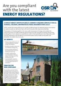 Are you compliant with the latest ENERGY REGULATIONS?
