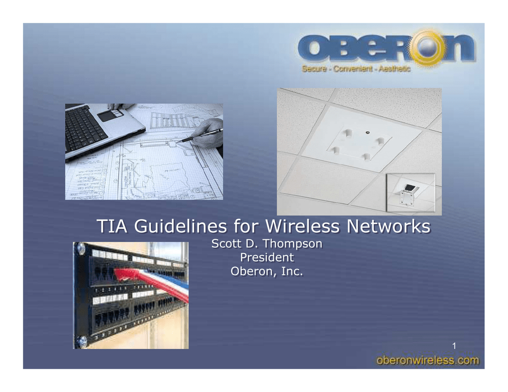 Tia Guidelines For Wireless Networks Oberon Wire Diagram