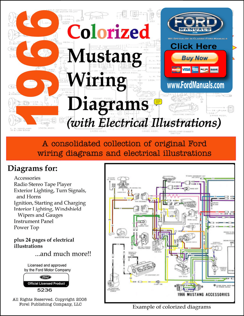 [DIAGRAM_38IS]  DEMO - 1966 Colorized Mustang Wiring Diagrams | 1966 Mustang Colorized Wiring Diagram Ford For Sale |  | Studylib