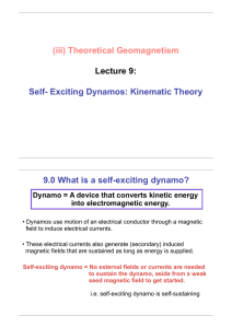 (iii) Theoretical Geomagnetism Lecture 9: Self