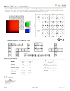 Matrix RGB Grid LED panel - 24 VDC