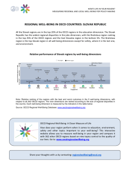 regional well-being in oecd countries: slovak republic