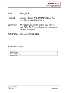 Title: PWL_FILE Product: OrCAD PSpice A/D, OrCAD PSpice AA