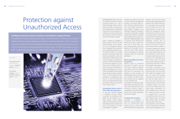 Protection Against Unauthorized Access