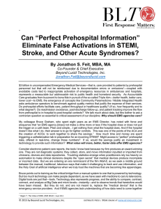 "Can ""Perfect Prehospital Information"" Eliminate False Activations in"