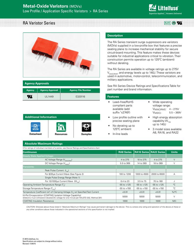 10 pieces Varistors 30V 1A CLAMP