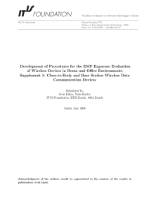 Development of Procedures for the EMF Exposure Evaluation of
