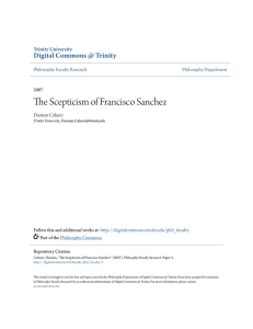 The Scepticism of Francisco Sanchez