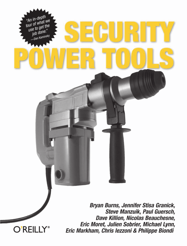 security power tools - Hacking Challenges