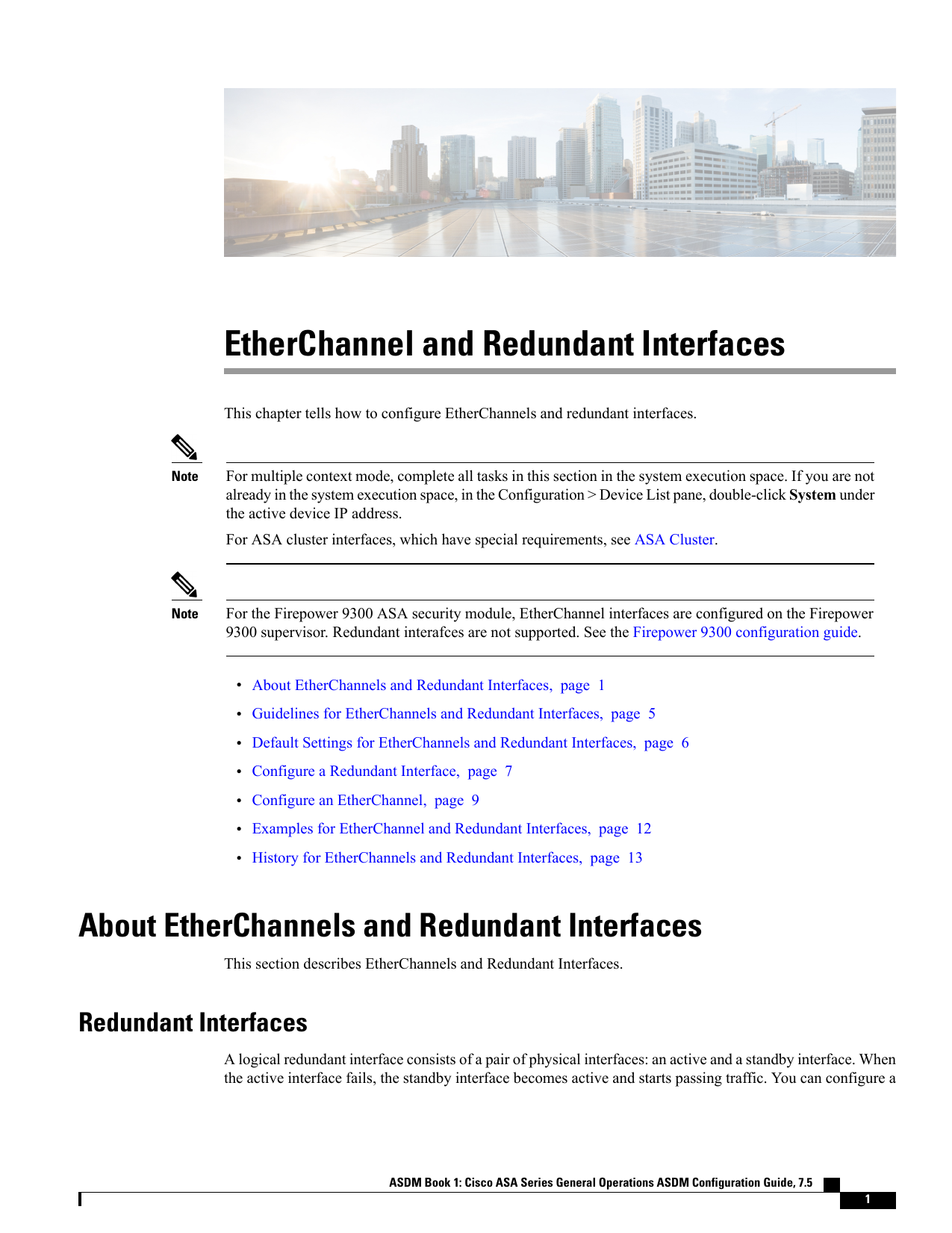EtherChannel and Redundant Interfaces