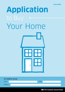 Application to Buy Your Home Form APP2