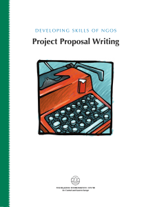 Project Proposal Writing - Publications