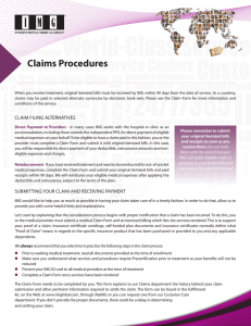 Claims Procedures - IMG Producer Area