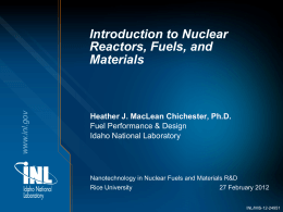 Introduction to Nuclear Reactors, Fuels, and Materials
