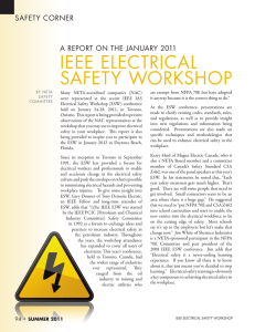ieee electrical safety workshop