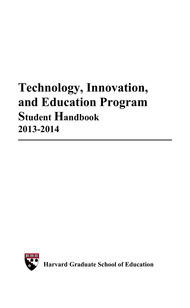 Harvard School Of Education >> Tie Student Handbook Harvard Graduate School Of Education