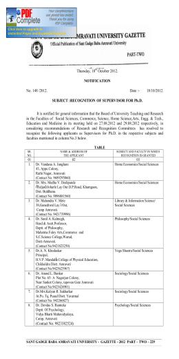 Thursday, 18 October 2012. NOTIFICATION No. 148 /2012. Date