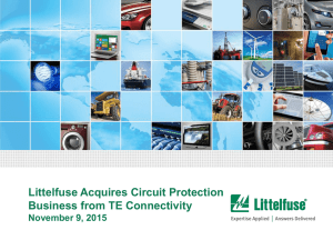 Littelfuse Acquires Circuit Protection Business from TE Connectivity