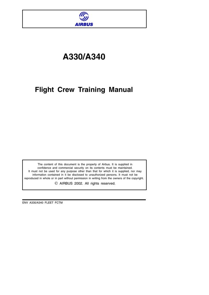 Flight crew training manual a330 seat