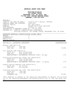 MATERIAL SAFETY DATA SHEET Everlube® Products 100