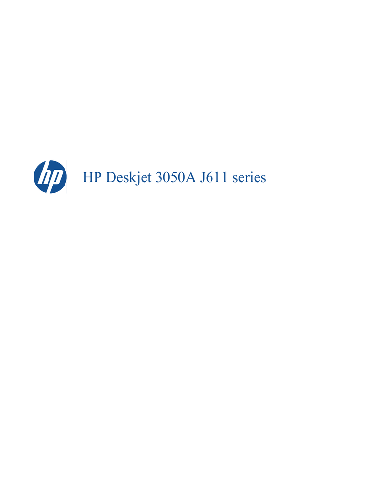 drivers hp deskjet 3050a j611 series