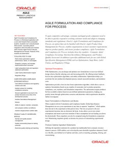 Agile Formulation and Compliance for Process - Data Sheet