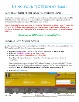 Using Your TJC Student Email