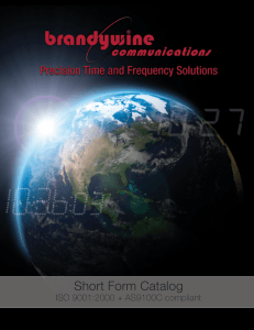 Short Form Catalog - Brandywine Communications