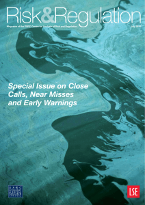 Special Issue on Close Calls, Near Misses and Early Warnings
