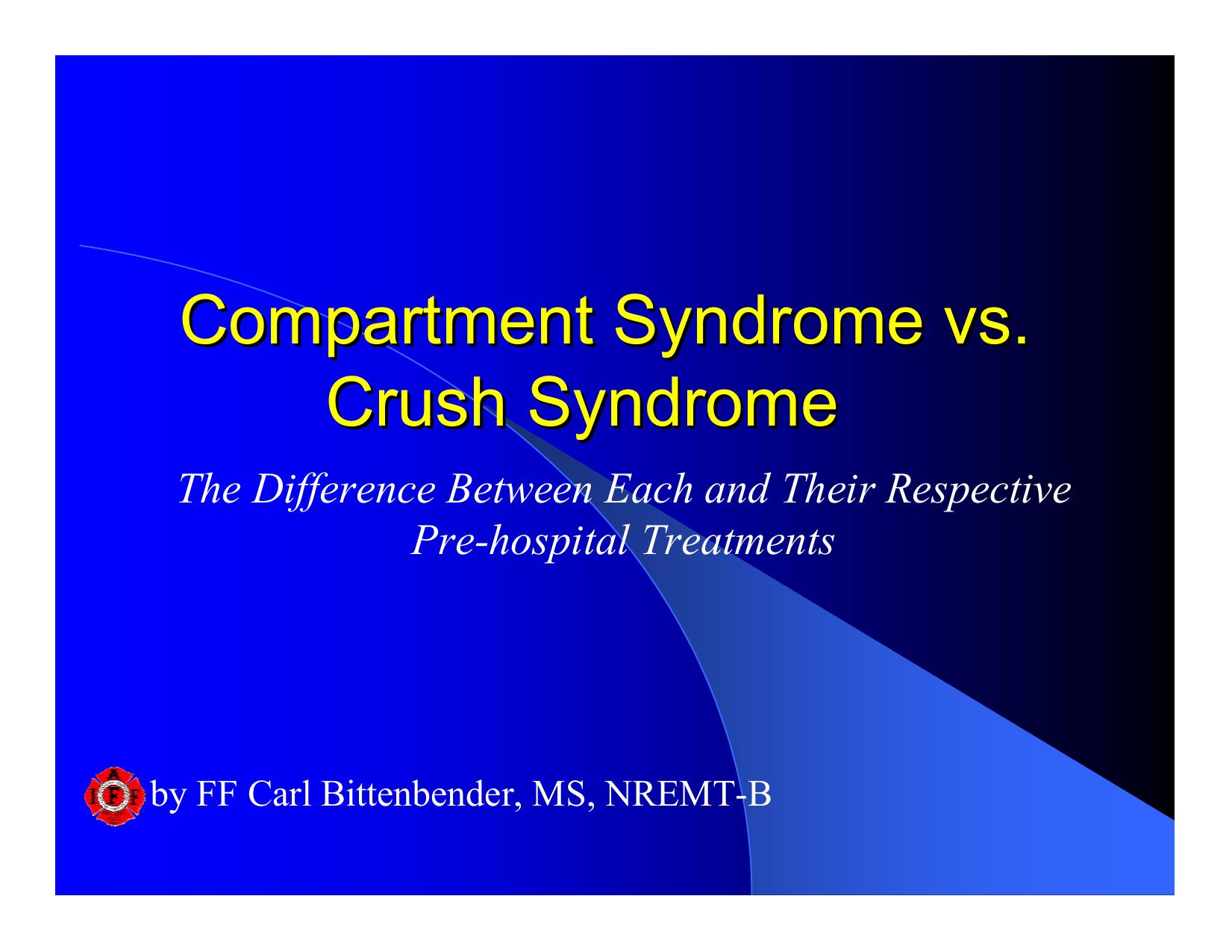 Syndrom crush Crush syndrom