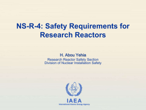 NS-R-4: Safety Requirements for Research Reactors