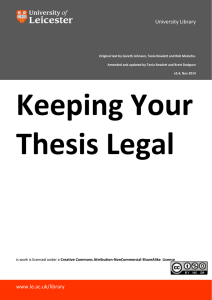 Keeping your Thesis Legal
