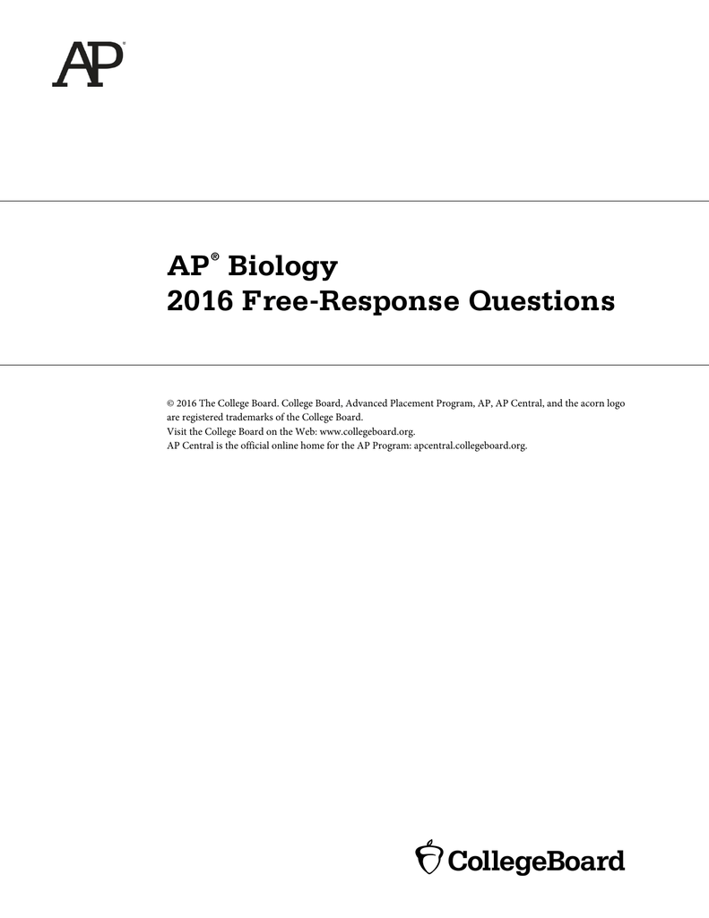 old ap biology essay questions answers