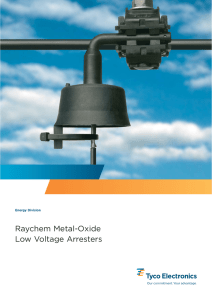 Raychem Metal-Oxide Low Voltage Surge Arrester