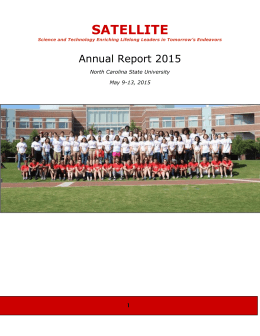 Annual Report - NCSU Student Organizations